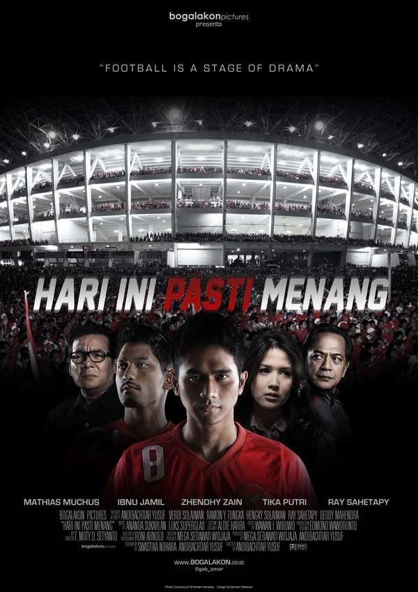 Desain 1 film Hari Ini Pasti Menang the movie. Cinema release 11 April 2013
