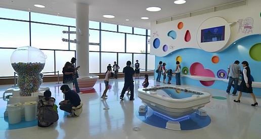 Ruang main Museum Doraemon, ada ruang nonton filmnya & ruang main untuk balita juga