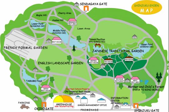 Gyoen park map