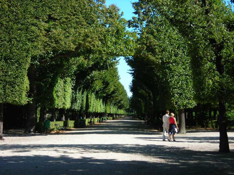 Vienna, Austria. Back yard of the Schonbrunn