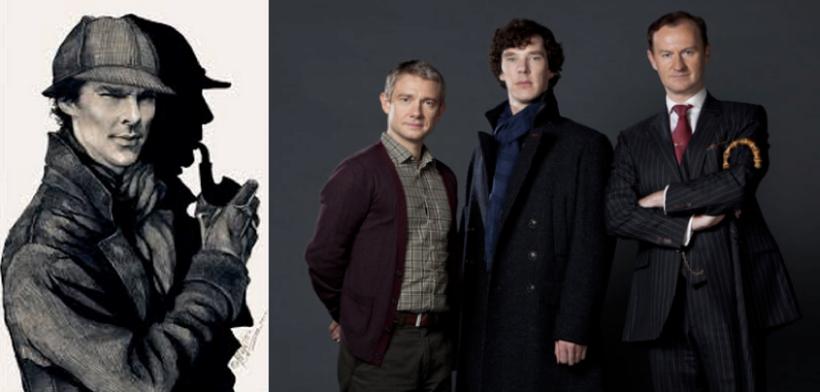 Martin Freeman, Benedict Cumberbatch, Mark Gatiss