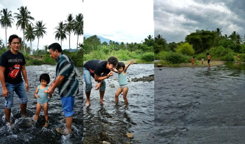 mandi di sungai Payakumbuh