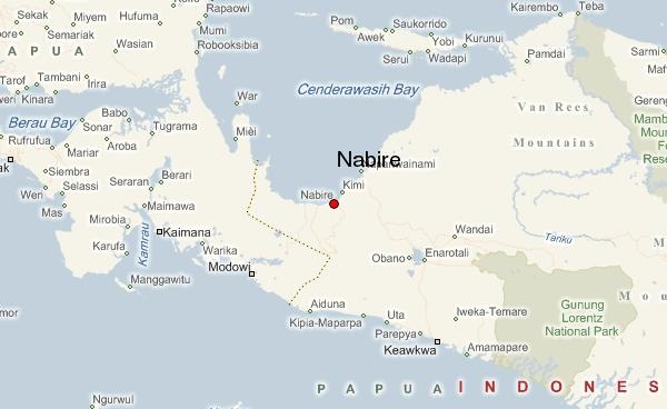 nabire map papua