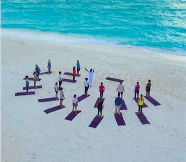 yoga maldives beach